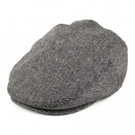 Jaxon & James Marl Tweed Flat Cap Black