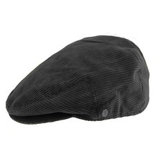 Jaxon & James Corduroy Flat Cap - Black