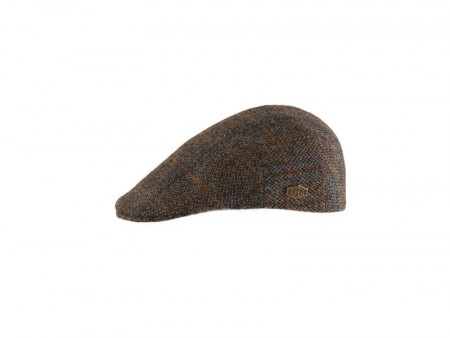 MJM - Country – Harris Tweed – 05 Brown Herringbone Overcheck