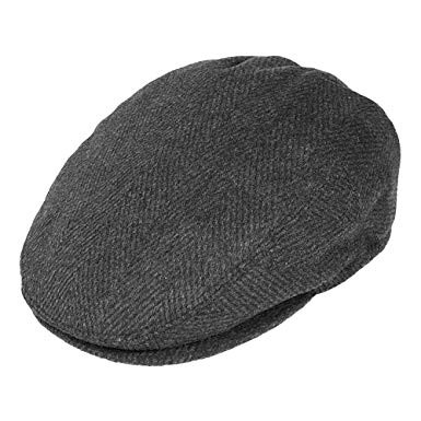 Jaxon & James Herringbone Flat Cap Grey