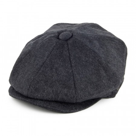 Jaxon & James Pure Wool Harlem Newsboy Cap Charcoal