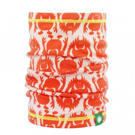 Monsterull hals rosa/orange