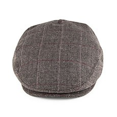 Jaxon & James Ashford Pure Wool - Flat Cap - Grey-Brown