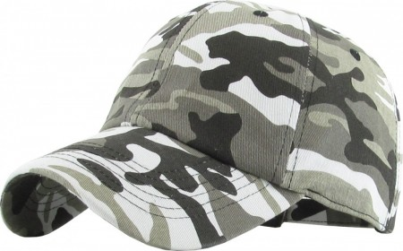 Plain Low Profile Cotton Baseball Cap - Citi Camo